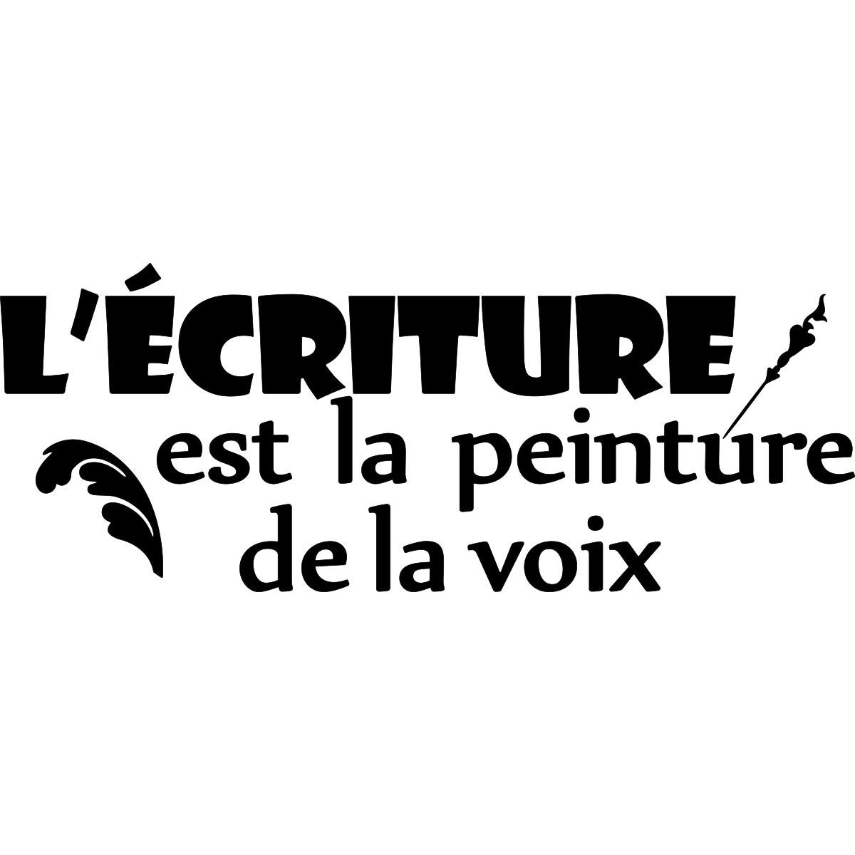 Wandtattoo Zitat L'écriture Est La Peinture De La Voix tout Image Écriture