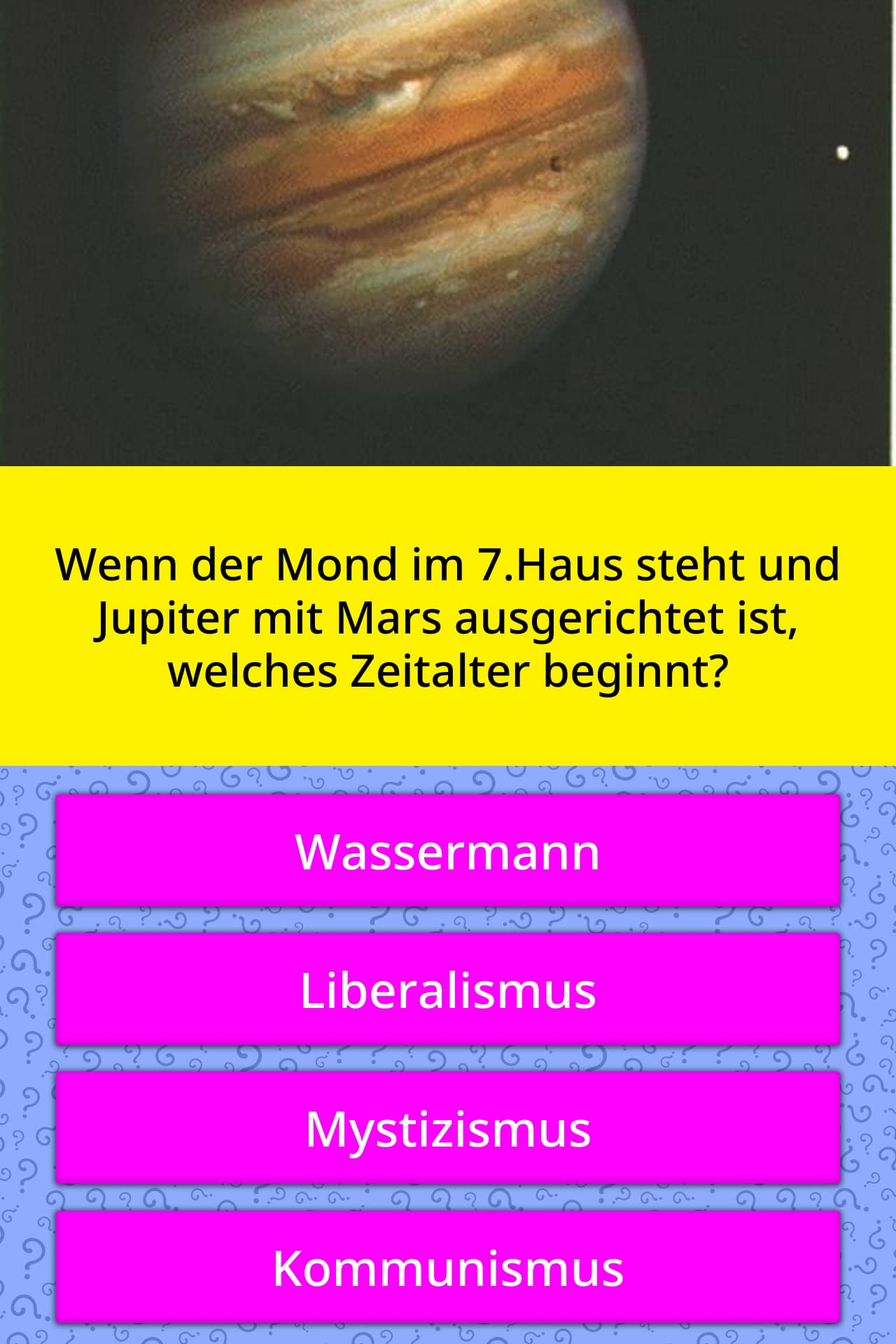 Wenn Der Mond Im 7.haus Steht Und   Quiz-Antworten concernant Quiz Musical En Ligne