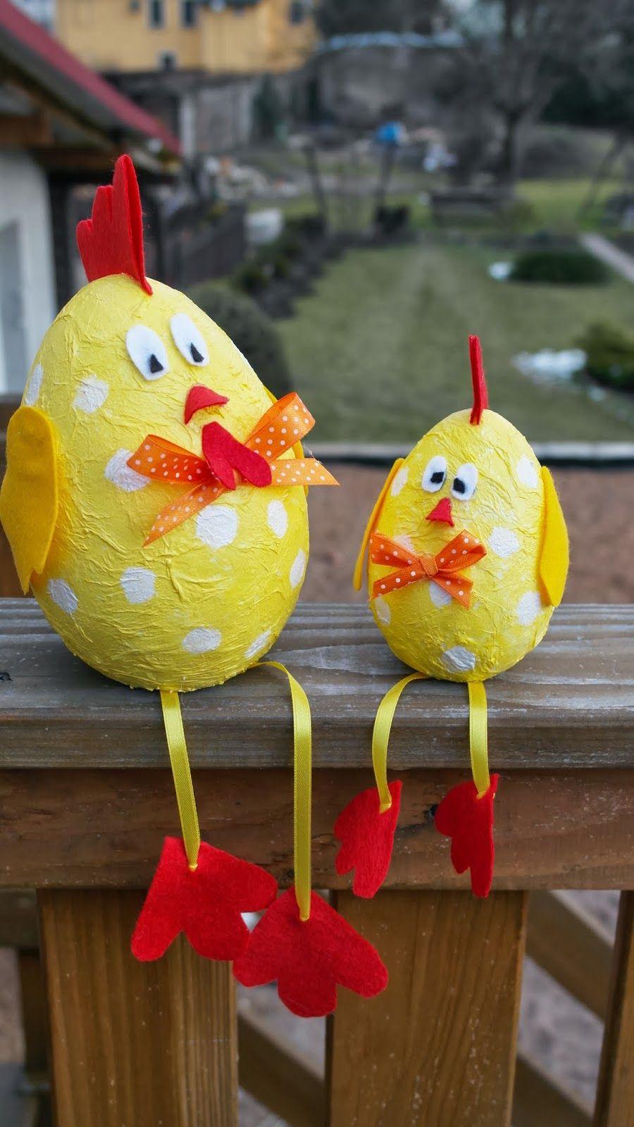 Wielkanocne Kurki-Dekoracja Na Wielkanoc | Bricolage Paques pour Bricolage Pour Paques Maternelle