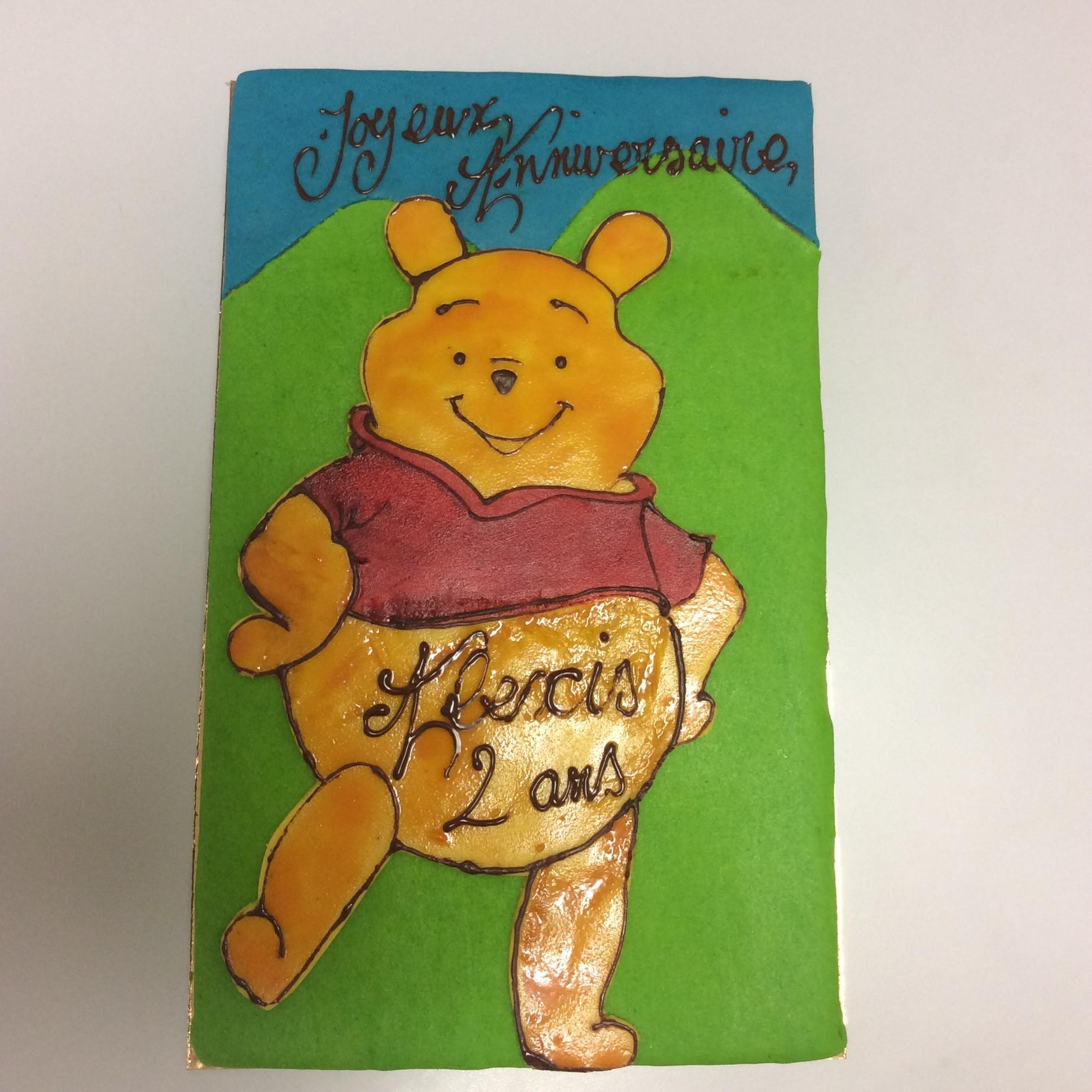 Winnie L'ourson Gâteau D'anniversaire - Aux Douceurs Sucrées - Polliat tout Gateau Anniversaire Winnie L Ourson