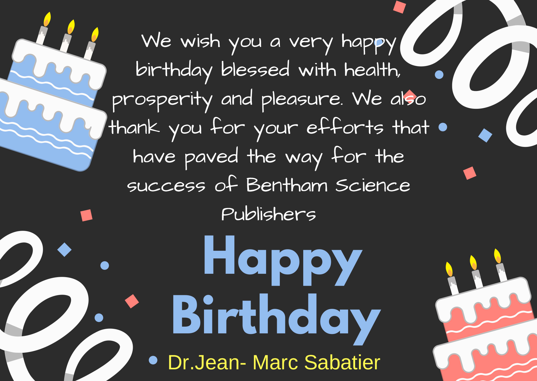 Wishing A Very Happy Birthday To Dr. Jean-Marc Sabatier encequiconcerne Fete Jean Marc