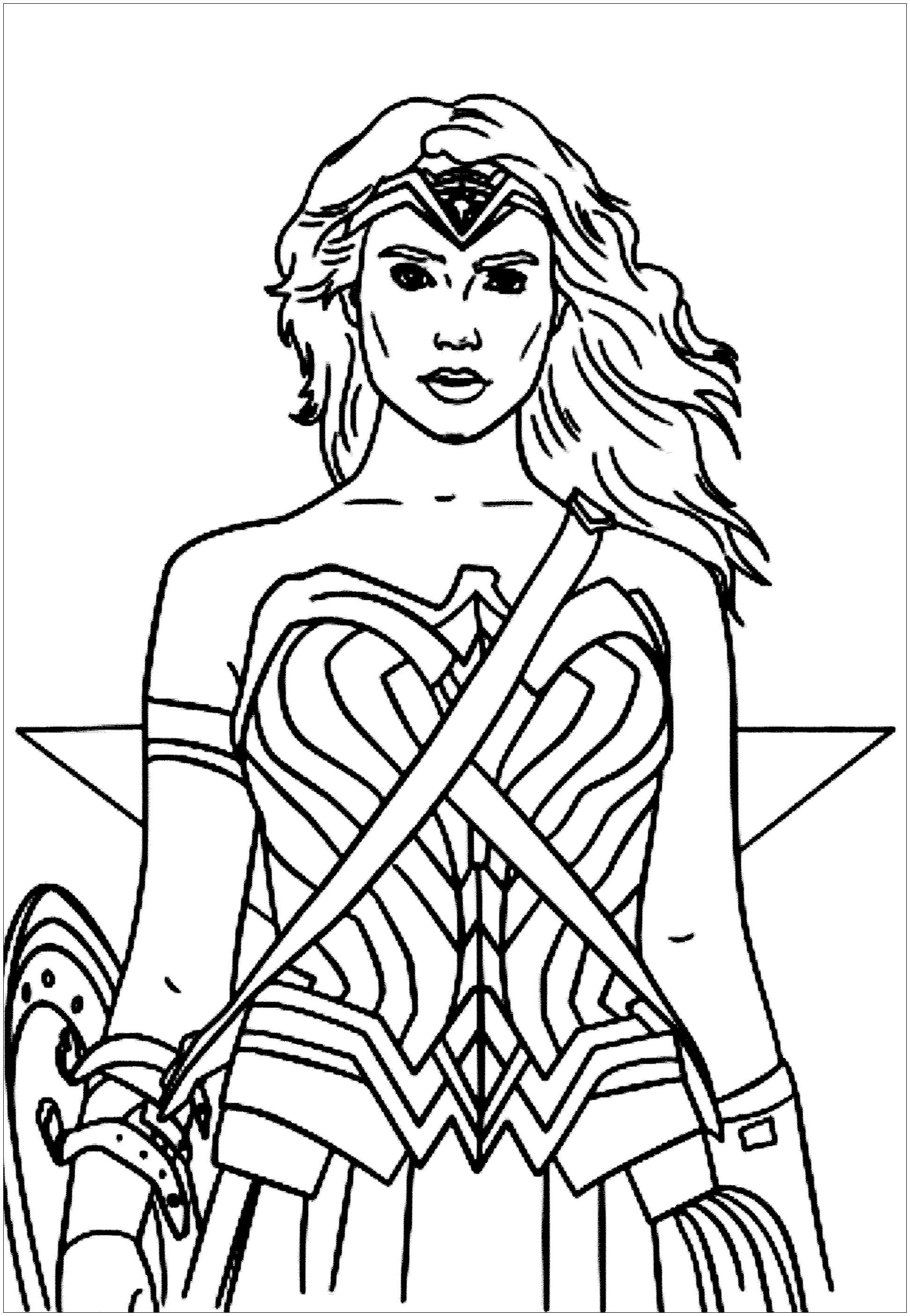 Wonder Woman Interprétée - Coloriage Wonder Woman intérieur Coloriage Ralph La Casse