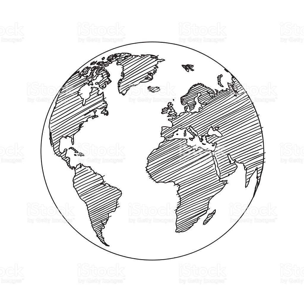 World Map Globe Sketch In Vector Format | Dessin Du Globe encequiconcerne Dessin Mappemonde