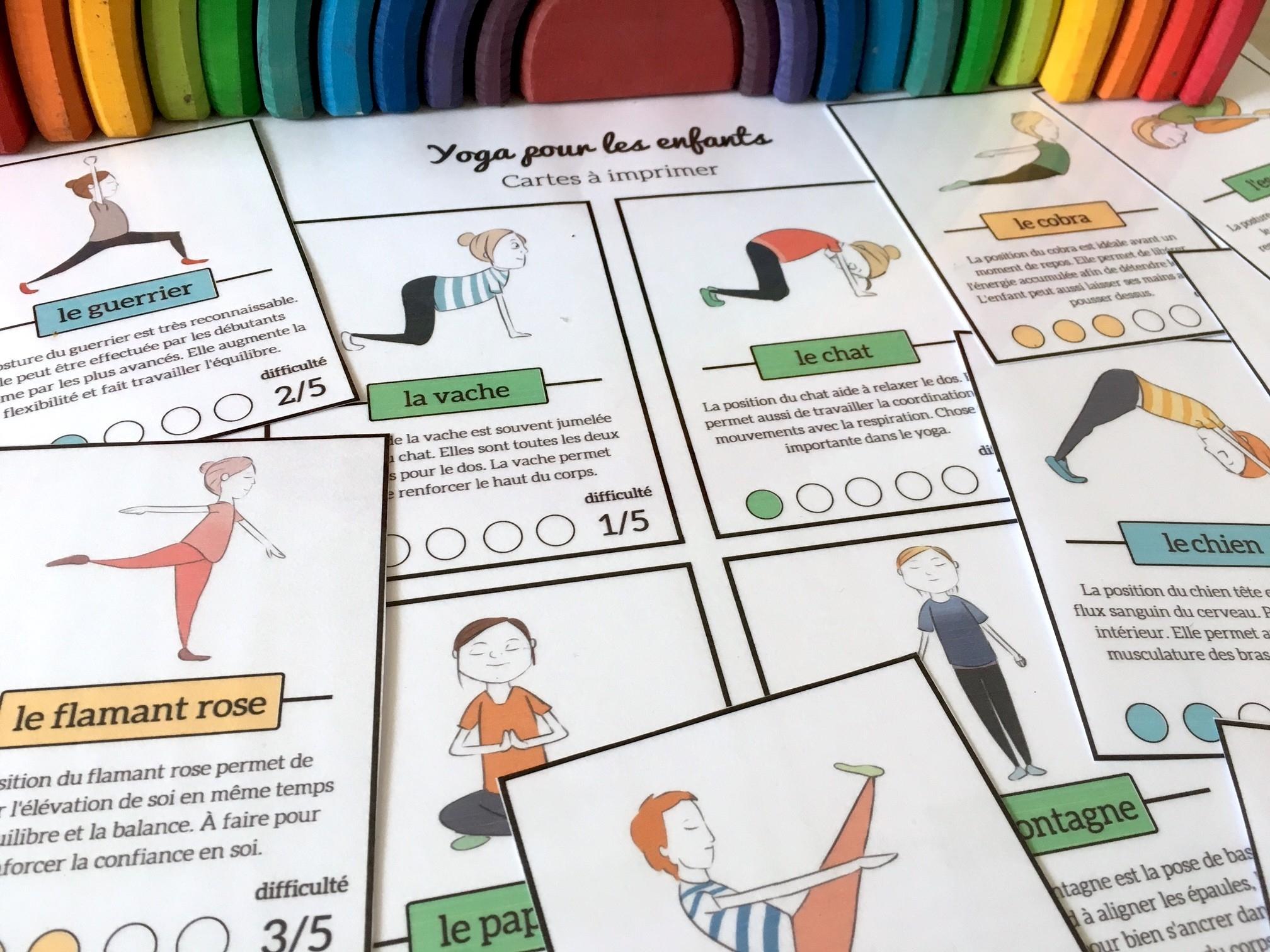 Yoga Pour Les Enfants {Cartes À Télécharger Gratuitement} à Jeux Enfant 3 Ans Gratuit