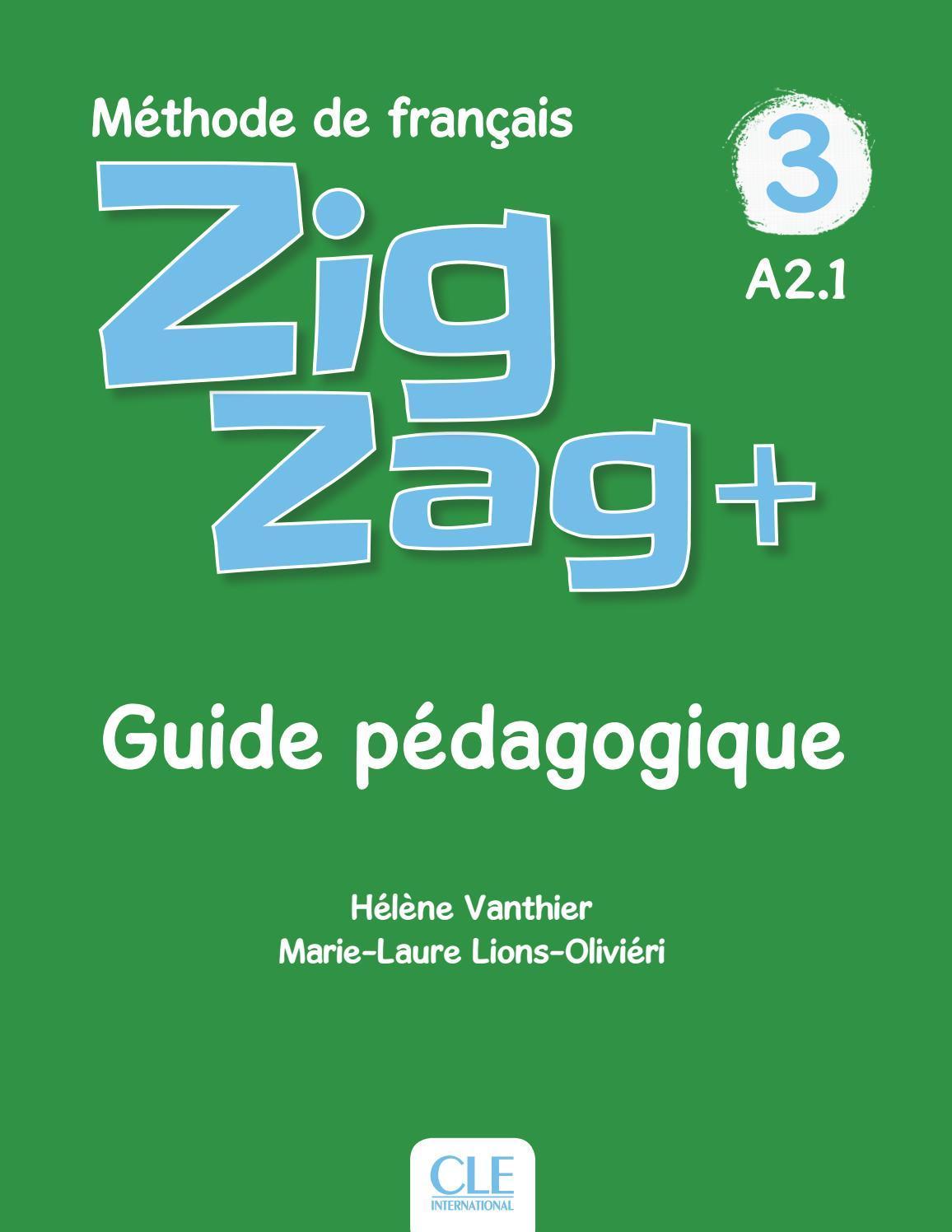 Zigzag + - Niveau 3 - Guide Pédagogique By Cle International tout Comptine Bonjour Madame Lundi