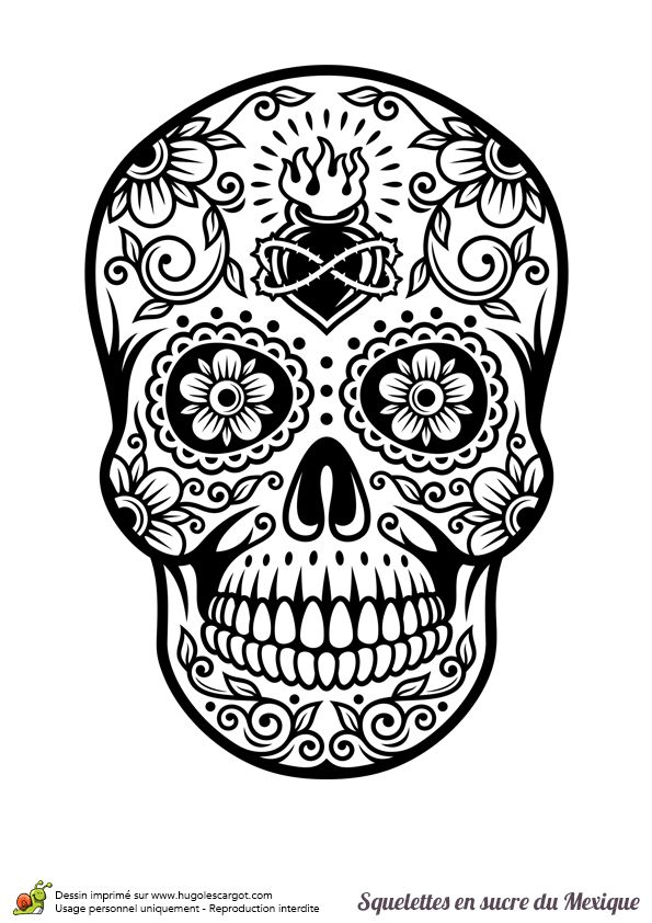 4717 Best Day Of The Dead Images On Pinterest | Skulls concernant Crane Mexicain Dessin