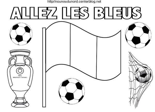 Allez Les Bleus Coloriage | Coloriage Foot, Coloriage Et intérieur Dessin De Foot A Imprimer