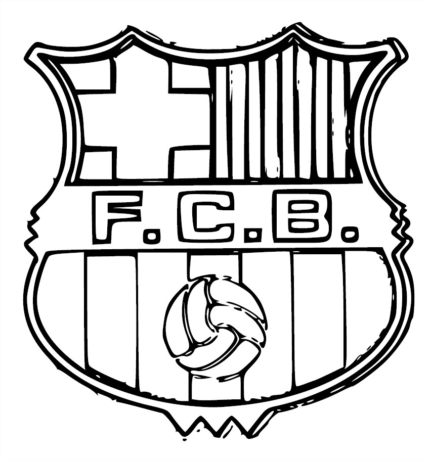 Blason Fc Barcelone : Coloriage Fc Barcelone À Imprimer Et tout Dessin De Foot A Imprimer