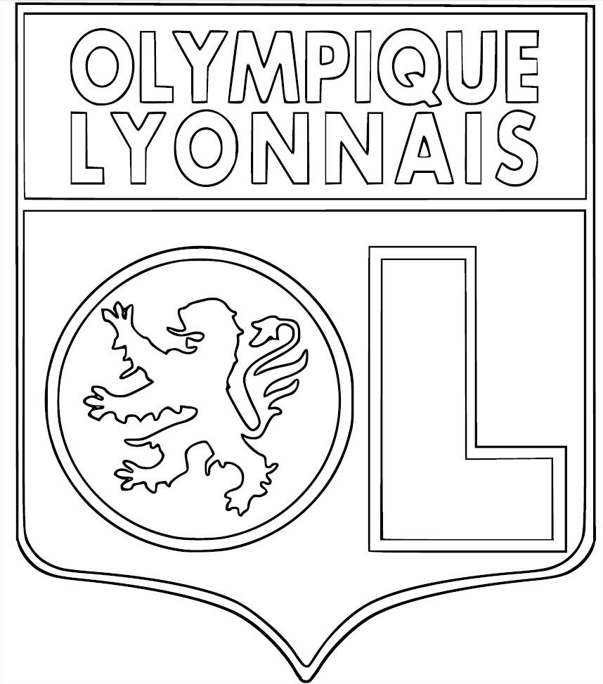 Blason Ol : Coloriage Ol (Olympique Lyonnais) À Imprimer intérieur Dessin De Foot A Imprimer
