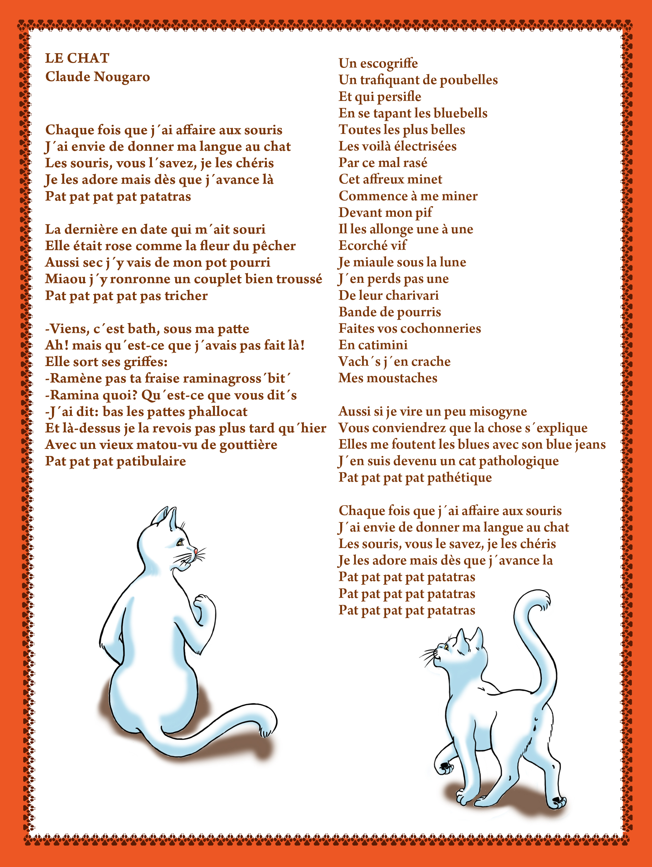 Claude Nougaro | Le Chat Dans Tous Ses États - Gatos avec Paroles 3 Petits Chats
