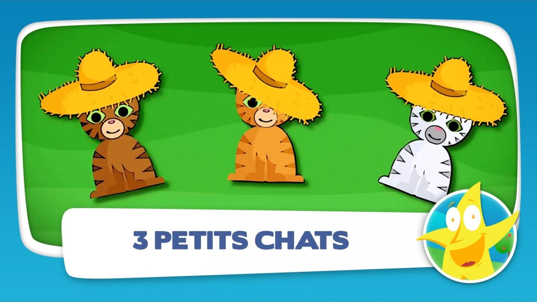 Clip Comptine Pour Enfants, Trois Petits Chats, Vidéo Et à Paroles 3 Petits Chats