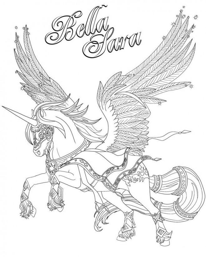 Coloriage Bella Sara Cheval Volant Dessin Gratuit À Imprimer encequiconcerne Dessin De Cheval À Imprimer