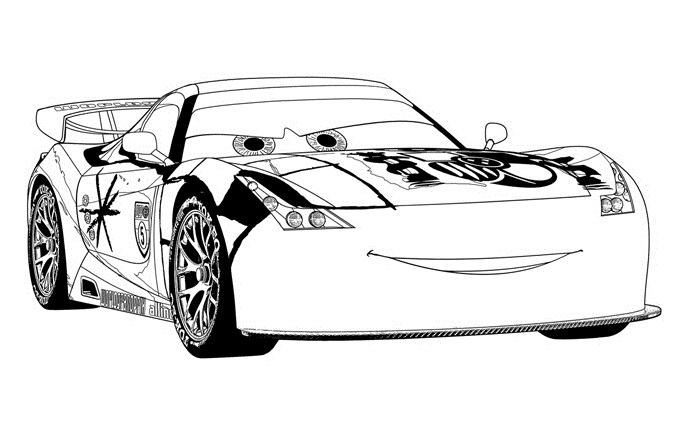 Coloriage Cars Et Cars 2 (Et Dessins De Flash Mc Queen tout Dessin À Colorier Cars