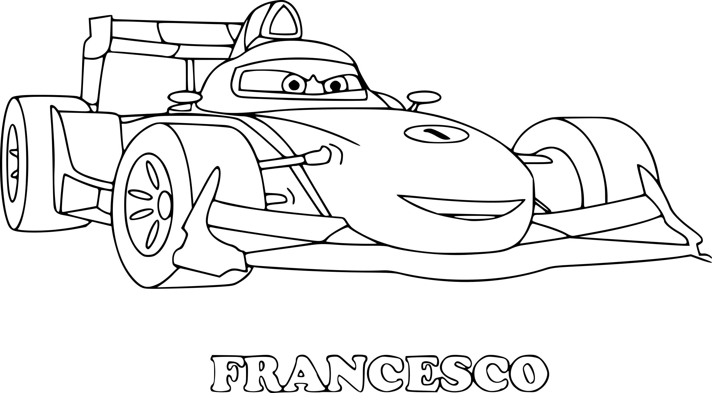 Coloriage Cars Francesco À Imprimer intérieur Dessin À Colorier Cars