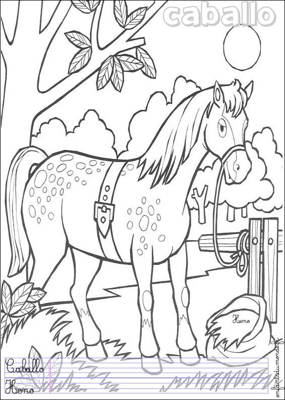 Coloriage Cheval 1 .:. Coloriages Animaux De La Ferme En à Dessin De Cheval À Imprimer