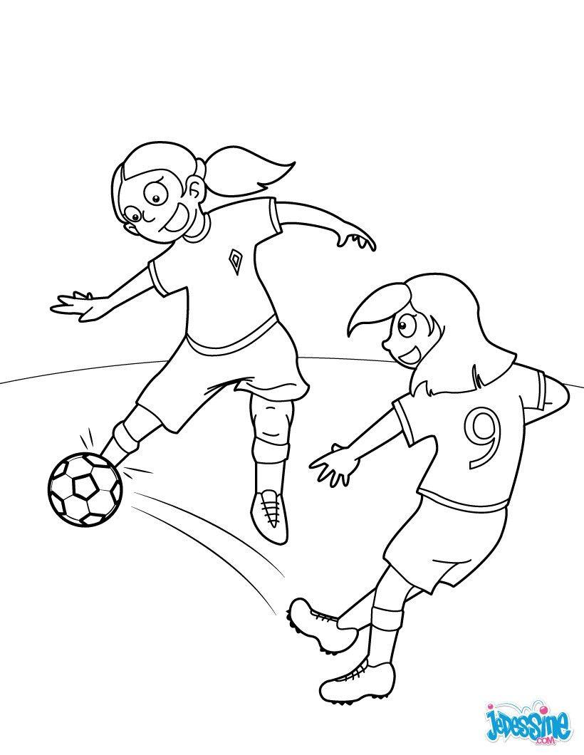 Coloriage D'Un Match De Foot De Fille. Un Coloriage Pour avec Dessin De Foot A Imprimer