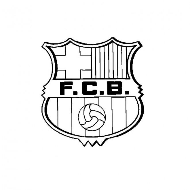 Coloriage Foot Barcelone Dessin Gratuit À Imprimer à Dessin De Foot A Imprimer