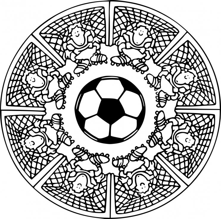 Coloriage Mandala Football À Imprimer Sur Coloriages intérieur Dessin De Foot A Imprimer