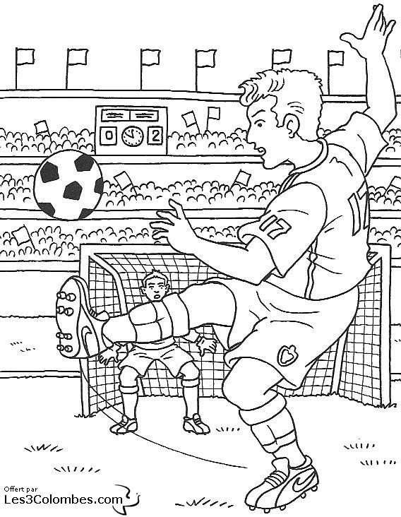 Coloriage Match De Football Populaire Dessin Gratuit À concernant Dessin De Foot A Imprimer