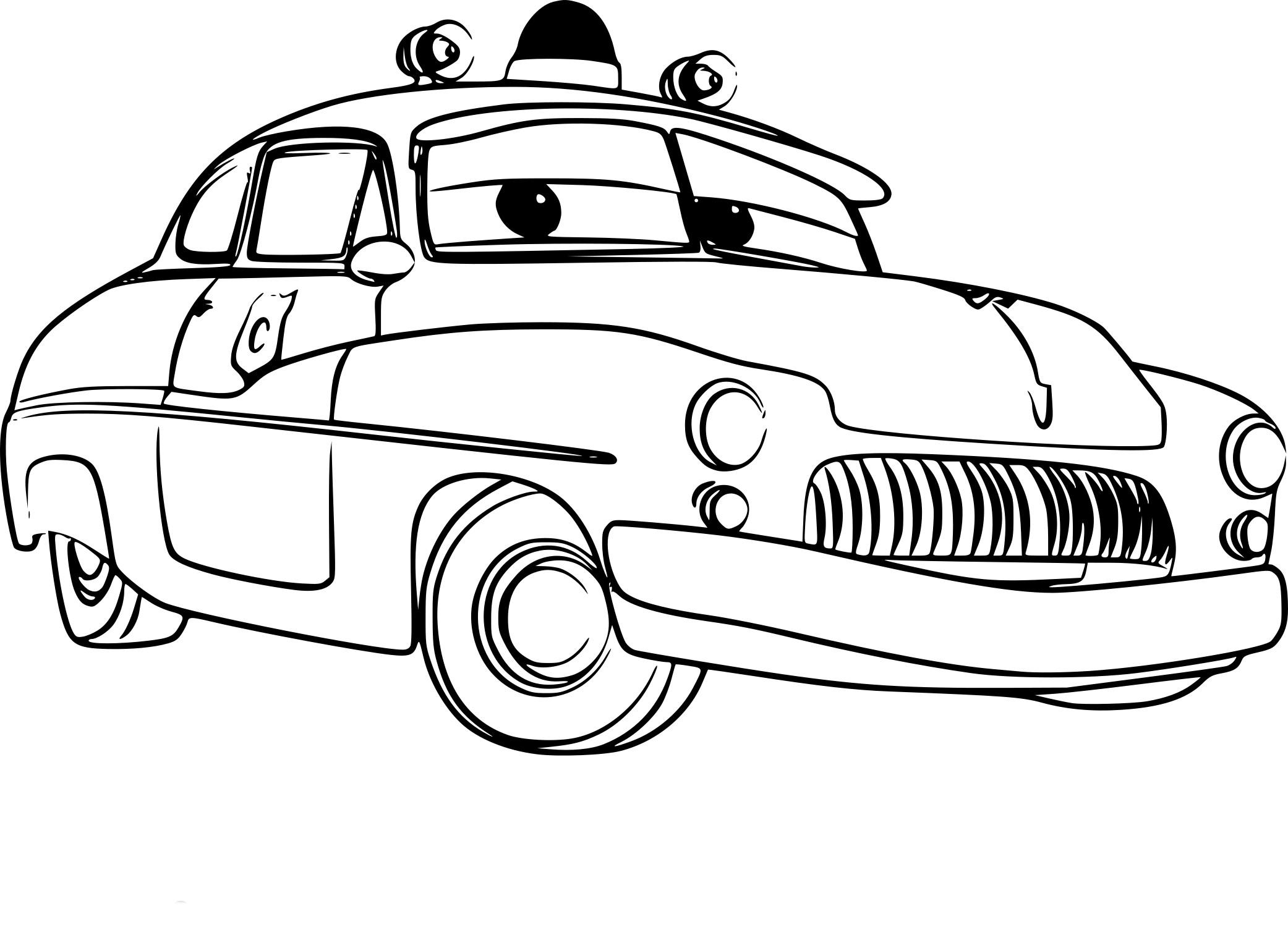Coloriage Shériff Cars 3 À Imprimer concernant Dessin À Colorier Cars