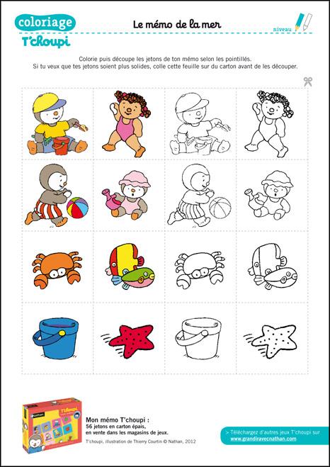 Coloriage T'Choupi À Imprimer : Coloriage : Le Mémo De La tout Tchoupi Al Ecole