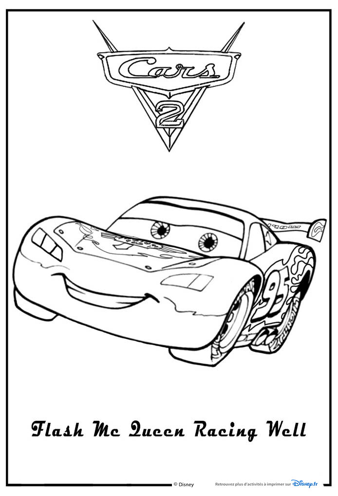 Coloriages Cars 2 , Coloriages Les Bagnoles 2 à Dessin À Colorier Cars