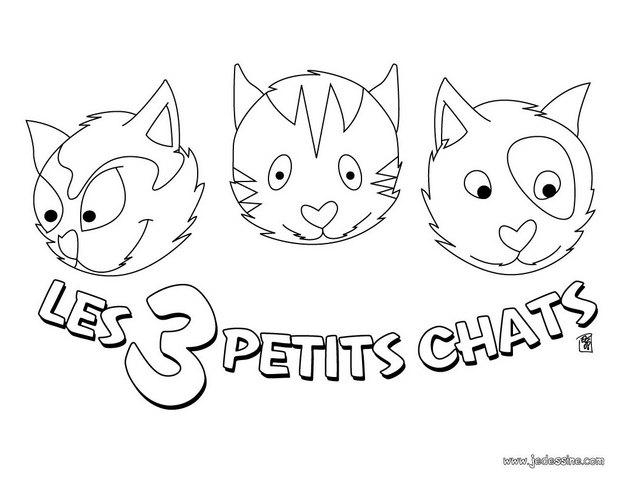 Coloriages Les Trois Petit Chat - Fr.hellokids concernant Paroles 3 Petits Chats