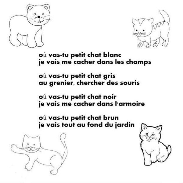 Comptines Poésies Chat - Recherche Google | Comptines serapportantà Paroles 3 Petits Chats