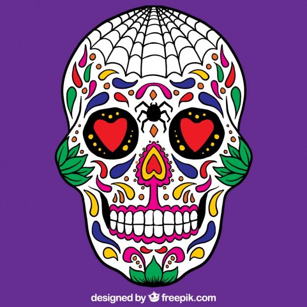 Crâne Mexicain Coloré | Télécharger Des Vecteurs Gratuitement serapportantà Crane Mexicain Dessin