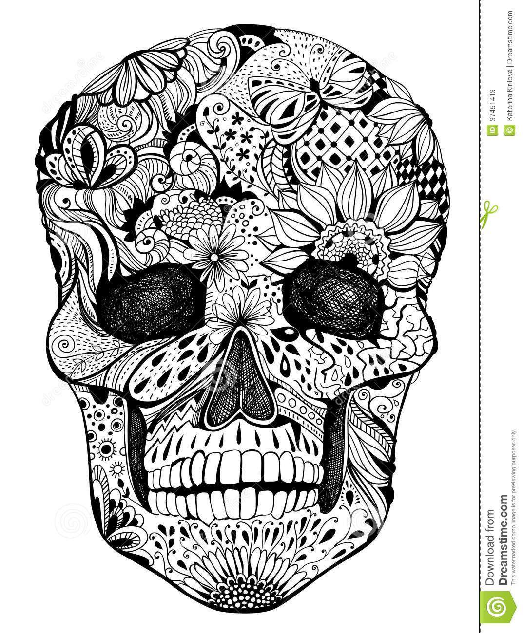 Crâne Mexicain - Recherche Google | Tête De Mort avec Crane Mexicain Dessin
