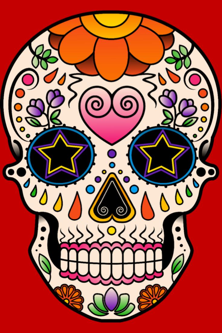 Dessiner Un Crâne Mexicain En 2020 | Crâne Mexicain destiné Crane Mexicain Dessin