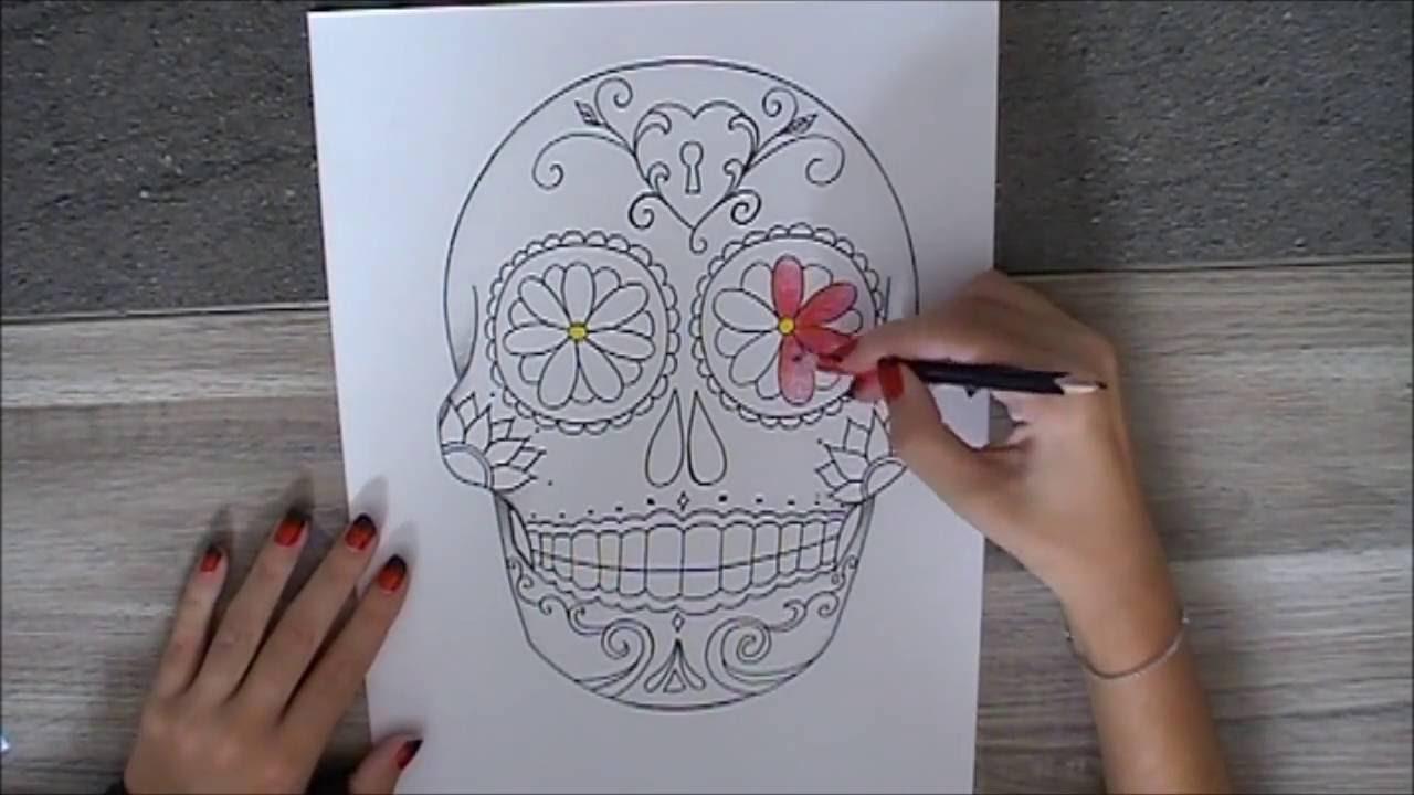 Dessiner Une Tête De Mort Mexicaine - destiné Crane Mexicain Dessin