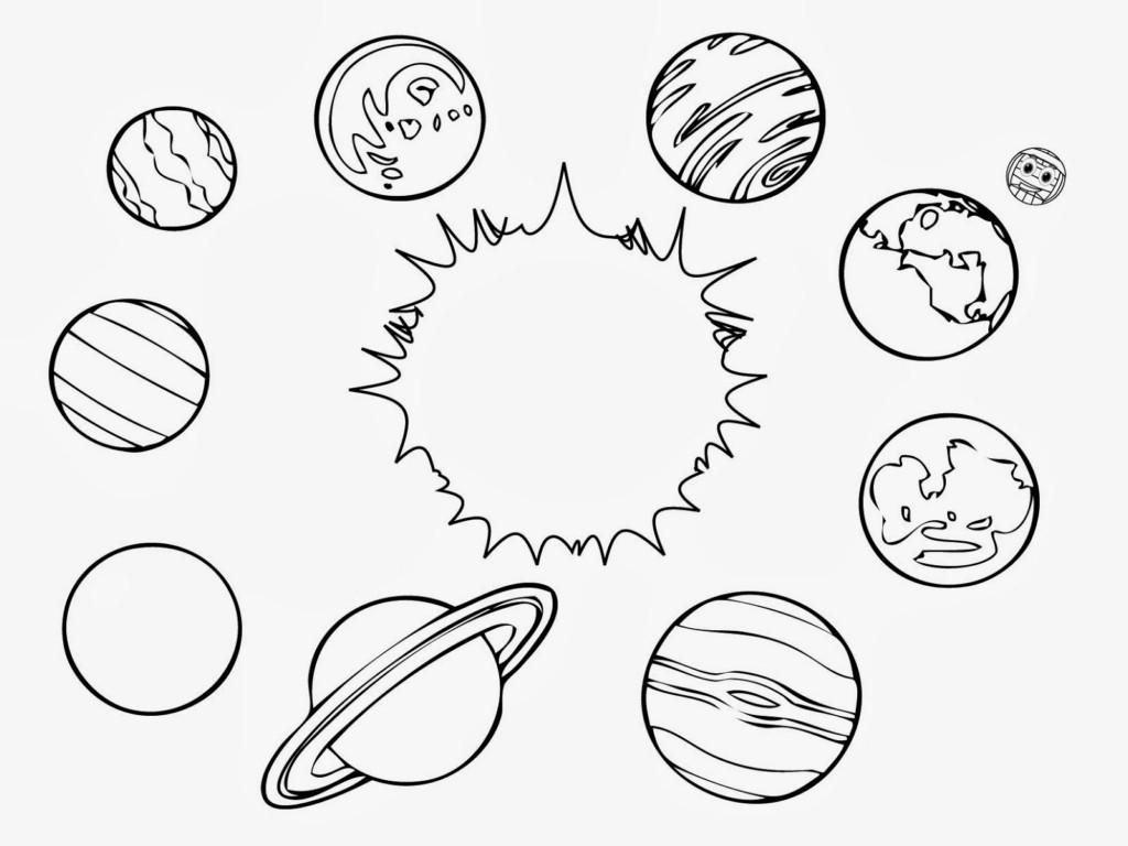 Dessins Et Coloriages: Page De Coloriage Grand Format À intérieur Dessin Systeme Solaire