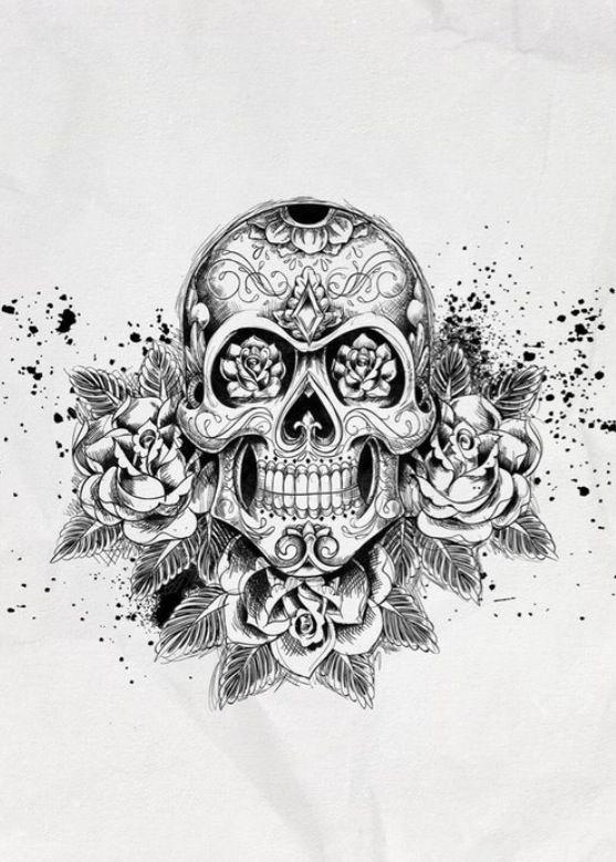 Drawing | Dessin Uage, Idées De Uages, Uage intérieur Crane Mexicain Dessin
