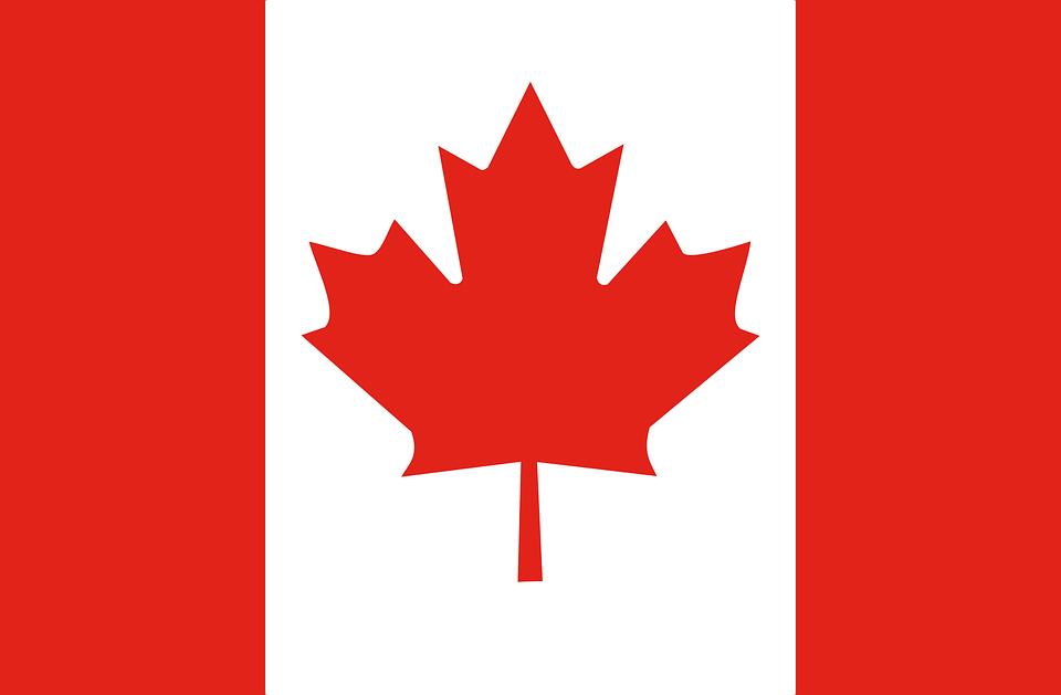 Image Vectorielle Gratuite: Drapeau, Canada, Feuille D avec Feuille D Érable Dessin