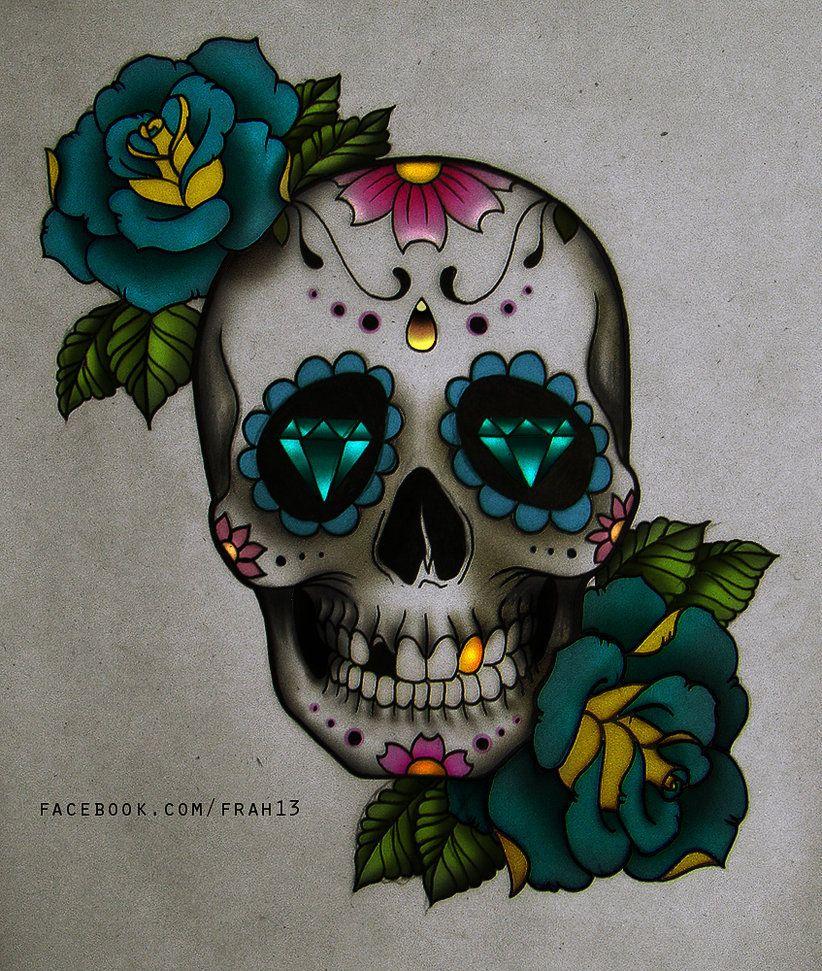 Images Crânes Mexicains | Crâne Mexicain, Illustration D avec Crane Mexicain Dessin
