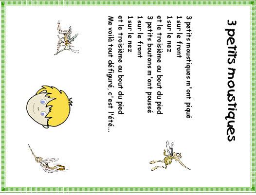 Imprimer La Chanson Trois Petits Moustiques – Chanson tout Paroles 3 Petits Chats