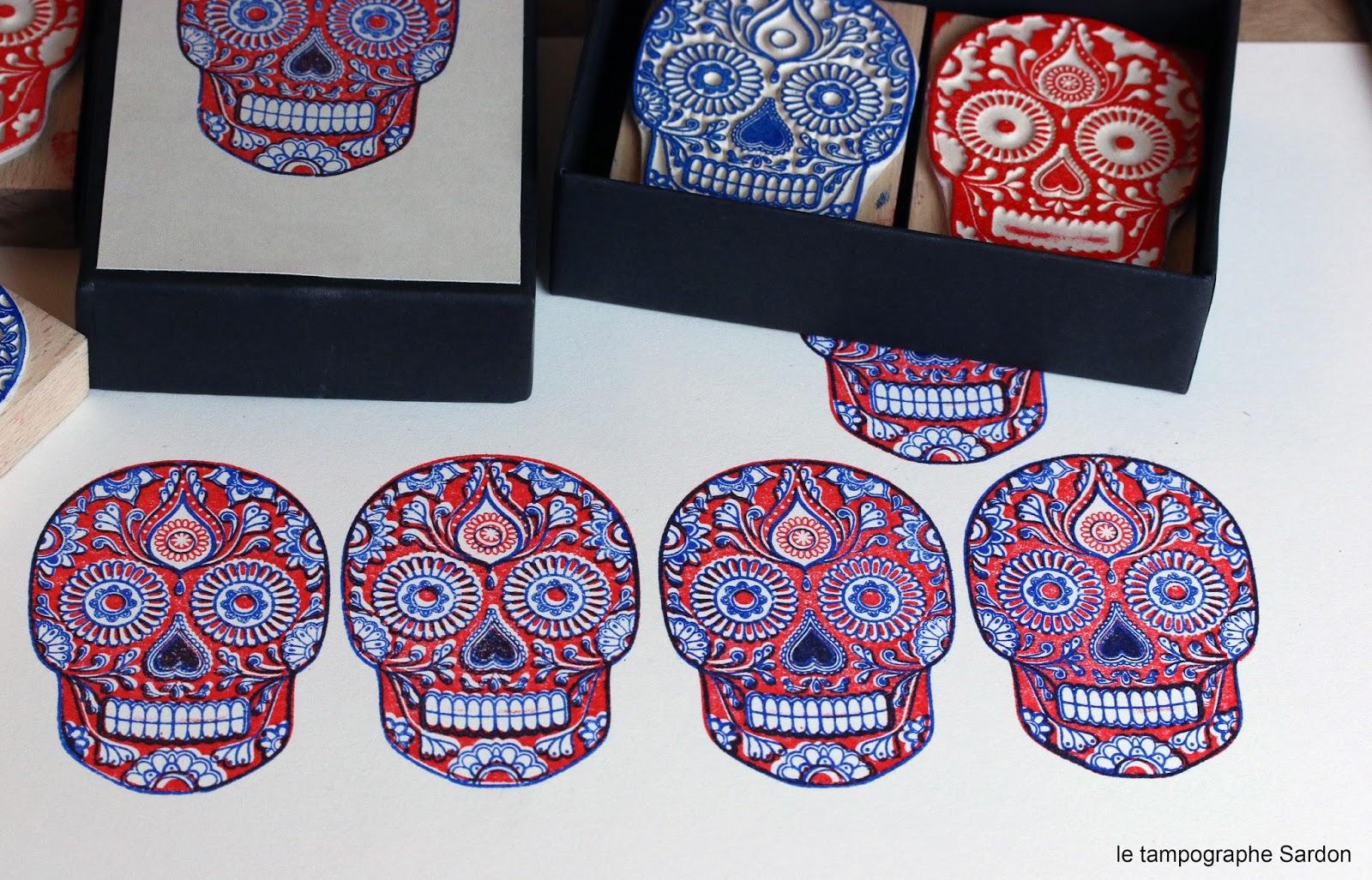 Le Tampographe Sardon: Crâne Mexicain dedans Crane Mexicain Dessin