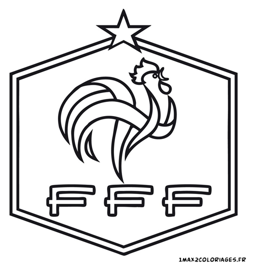 Logo Football France | Coloriage Foot, Coloriage Football dedans Dessin De Foot A Imprimer