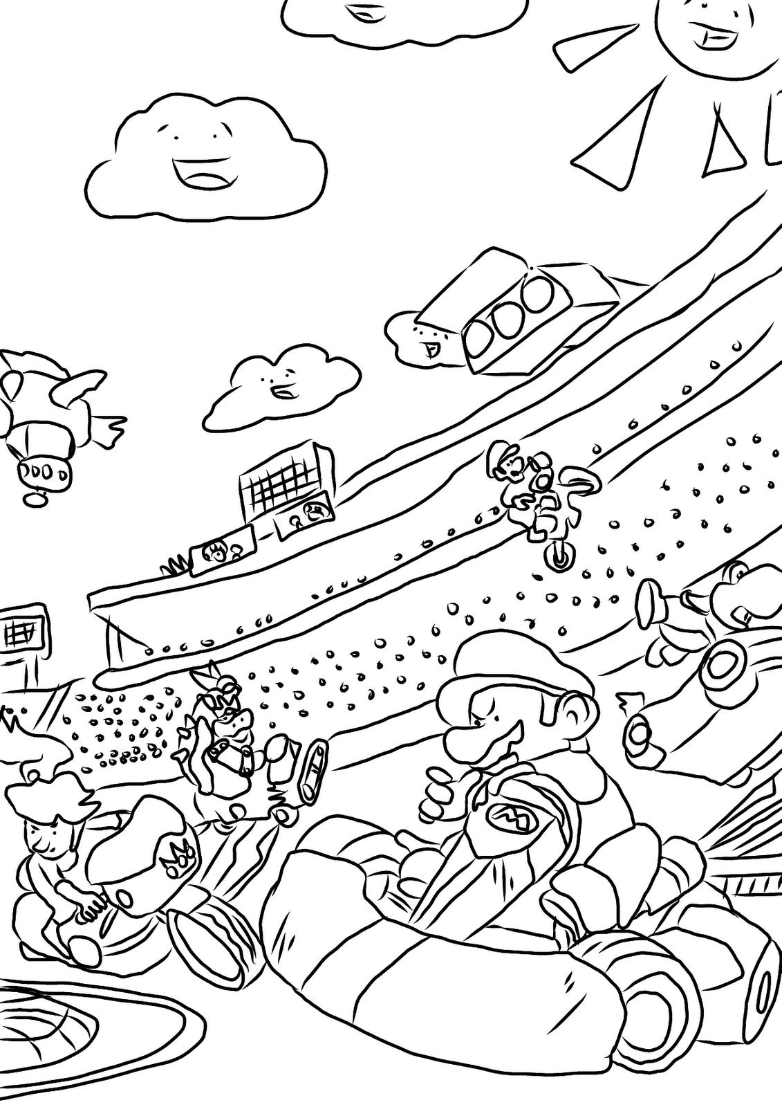 Mario Kart #13 (Jeux Vidéos) – Coloriages À Imprimer serapportantà Karting Dessin