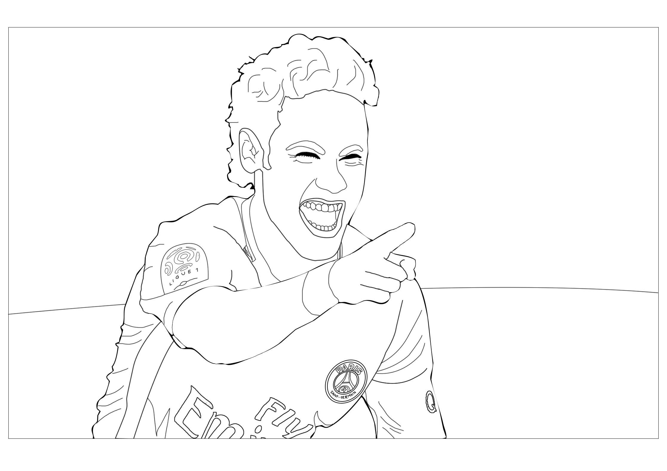Neymar Jr Version 1 - Coloriage Football - Coloriages Pour avec Dessin De Foot A Imprimer