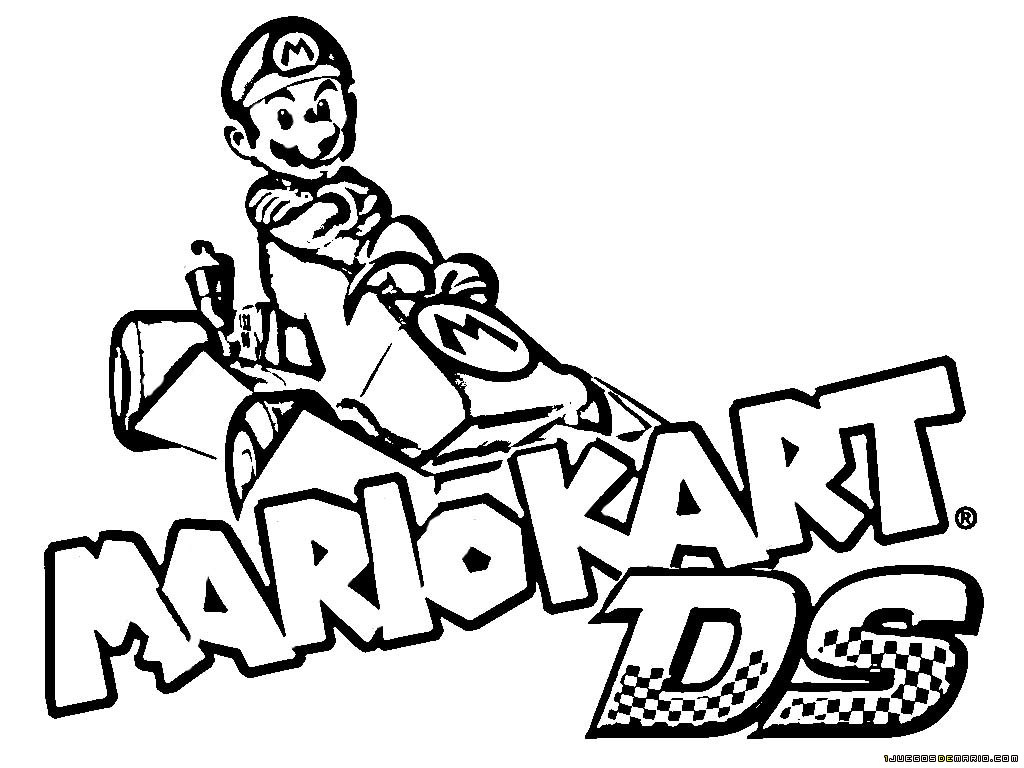 Nouveau Coloriage A Imprimer De Mario Et Ses Amis | Haut serapportantà Karting Dessin