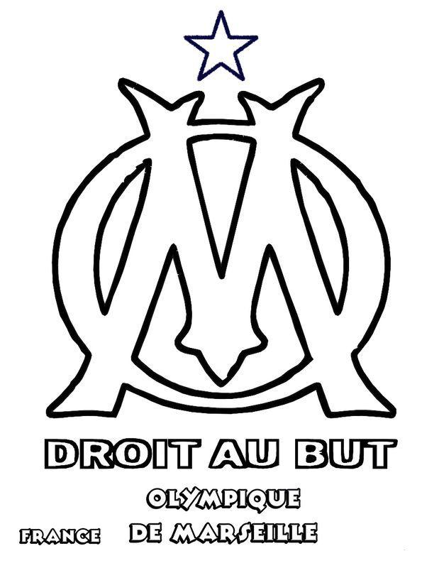 Olympique De Marseille Om | Olympique De Marseille à Dessin De Foot A Imprimer