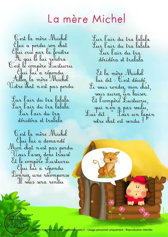 Parole Des Comptines - Micro Crèche Les Gribouillis concernant Paroles 3 Petits Chats