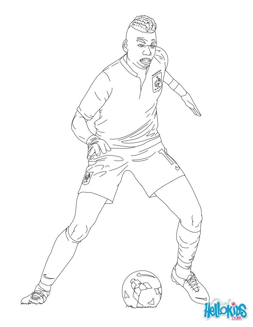 Paul Pogba Coloring Page | Coloring Pages, Football tout Dessin De Foot A Imprimer