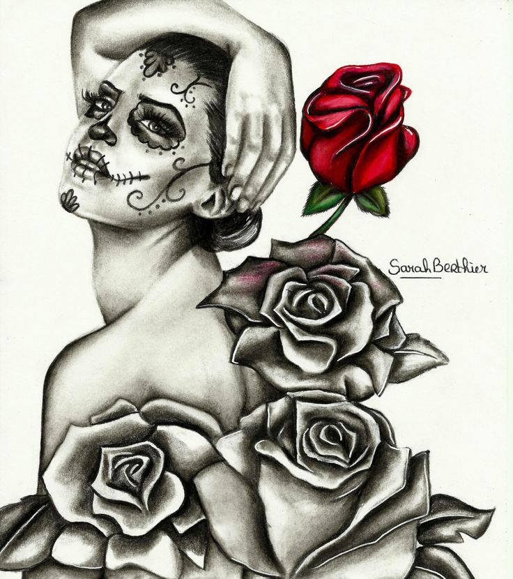 Pin On Tattoo Drawings destiné Crane Mexicain Dessin
