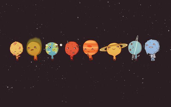 Planètes Par Anneka Tran | Fond D'Écran Pc, Fond D'Écran serapportantà Dessin Systeme Solaire