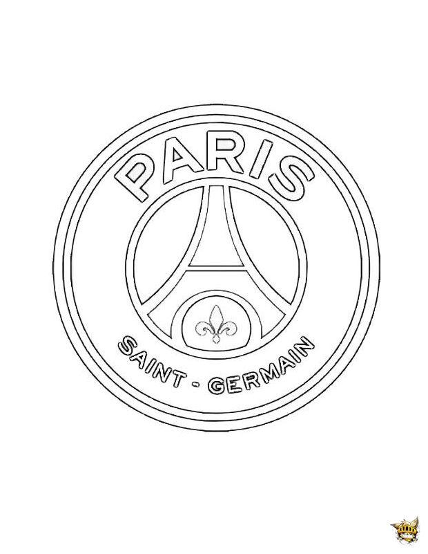 Psg Logo | Coloriage Paris destiné Dessin De Foot A Imprimer