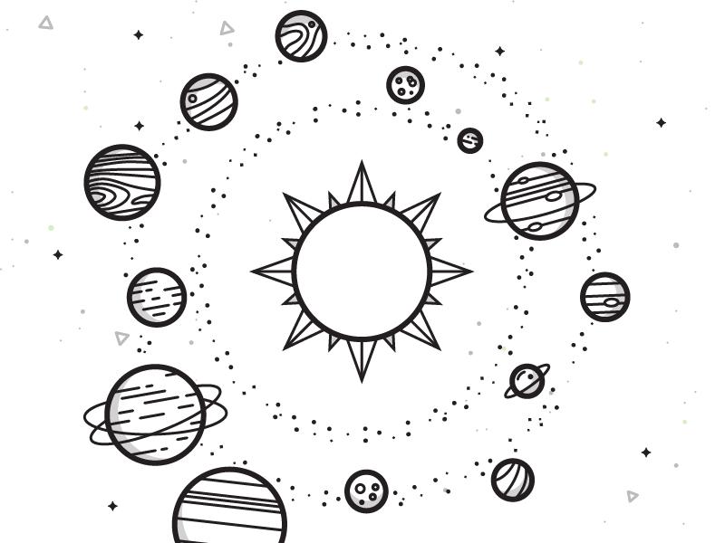 Solar System | Искусство Солнечной Системы, Рисунки serapportantà Dessin Systeme Solaire