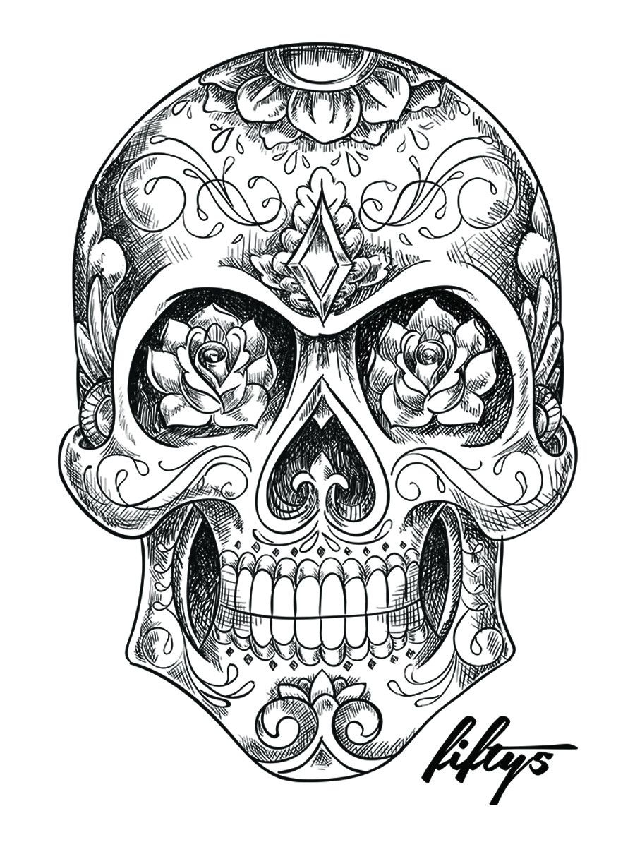Sugar Skull - Google Search (Avec Images) | Uage Crâne serapportantà Crane Mexicain Dessin